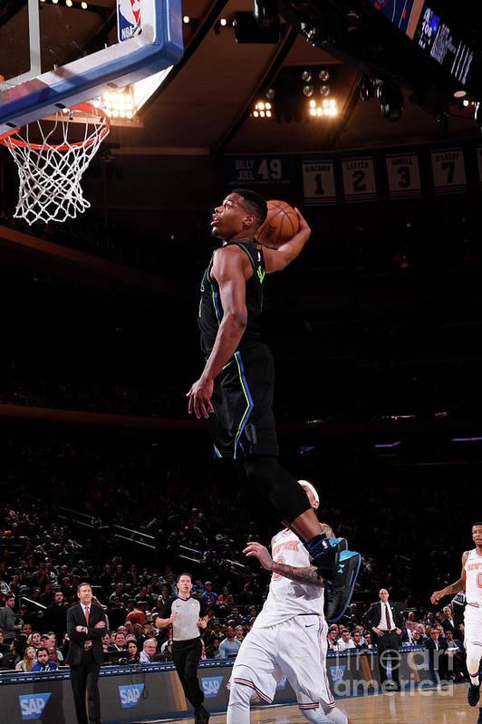 Sports Ball Art Print featuring the photograph Dallas Mavericks V New York Knicks by Nba Photos