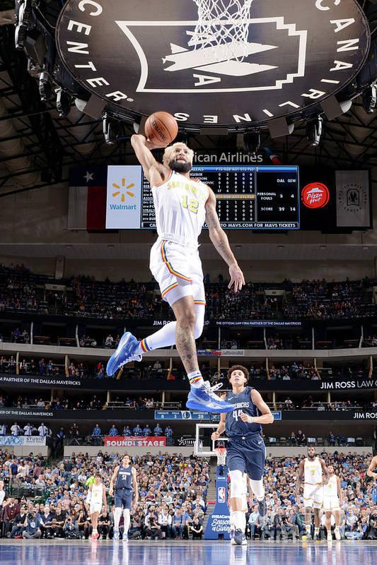 Nba Pro Basketball Art Print featuring the photograph Golden State Warriors V Dallas Mavericks by Glenn James