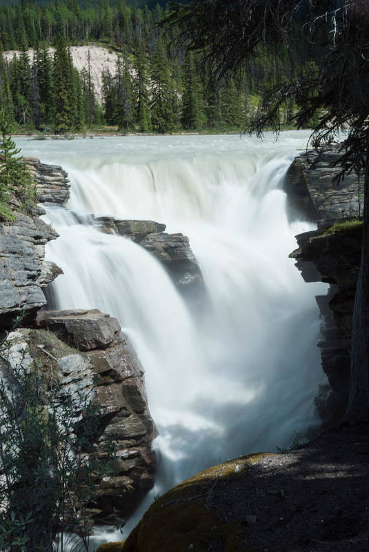 Tranquility Art Print featuring the photograph Icefields Parkway, Athabasca Falls by John Elk Iii