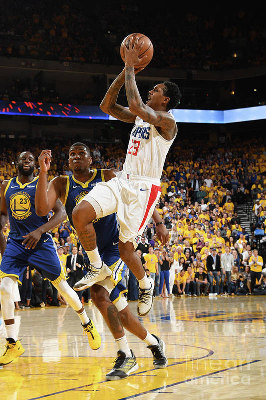 Playoffs Art Print featuring the photograph La Clippers V Golden State Warriors - by Andrew D. Bernstein