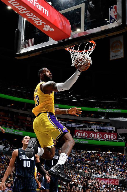 Nba Pro Basketball Art Print featuring the photograph Lebron James by Fernando Medina