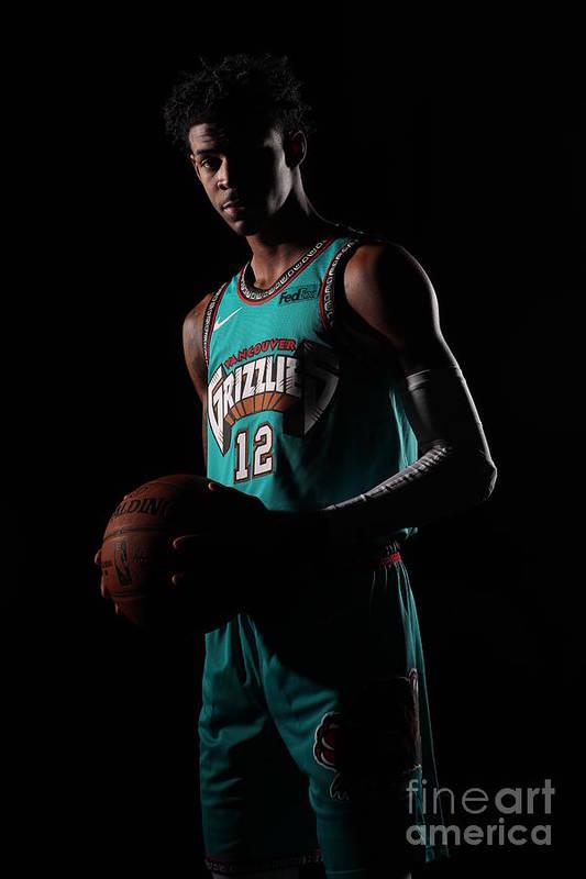 Nba Pro Basketball Art Print featuring the photograph Memphis Grizzlies Portrait Shoot In by Joe Murphy
