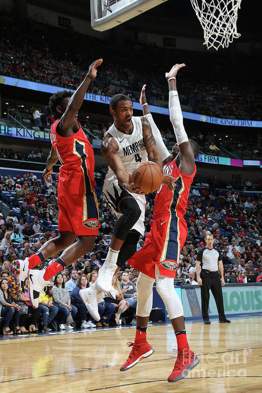Smoothie King Center Art Print featuring the photograph Memphis Grizzlies V New Orleans Pelicans by Layne Murdoch Jr.