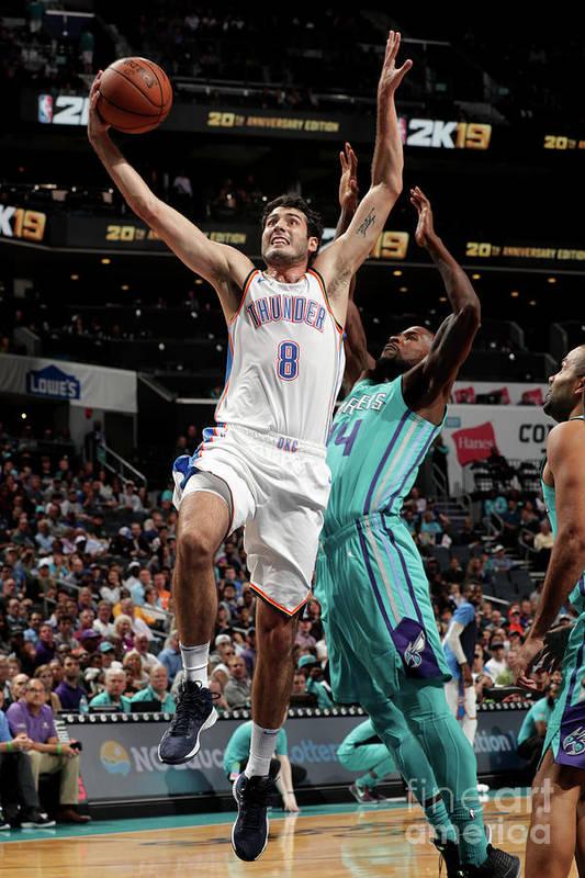 Nba Pro Basketball Art Print featuring the photograph Oklahoma City Thunder V Charlotte by Kent Smith