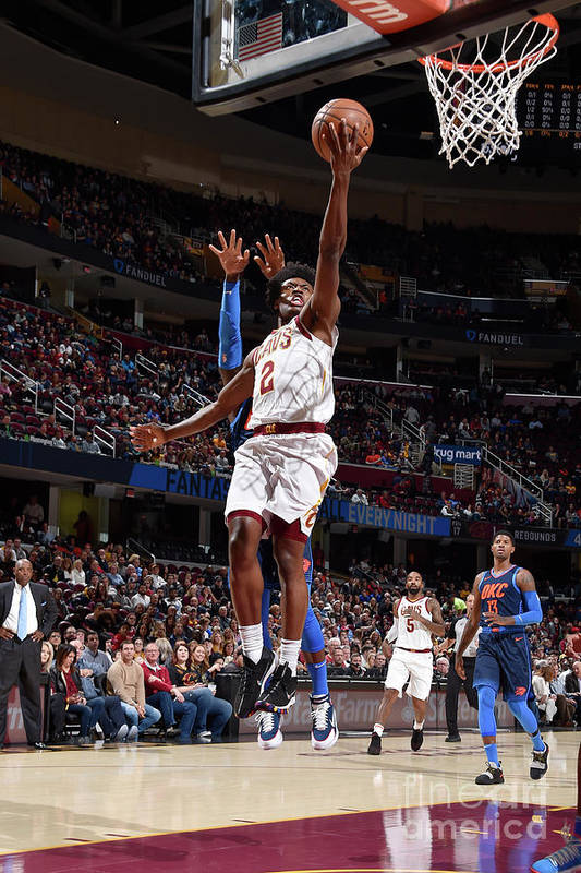 Nba Pro Basketball Art Print featuring the photograph Oklahoma City Thunder V Cleveland by David Liam Kyle