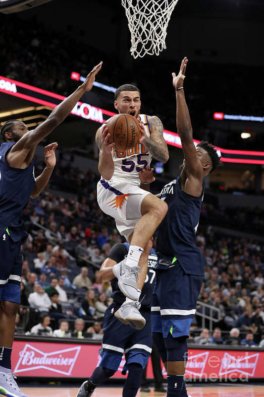 Nba Pro Basketball Art Print featuring the photograph Phoenix Suns V Minnesota Timberwolves by Jordan Johnson