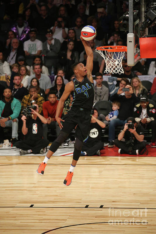 Event Art Print featuring the photograph Verizon Slam Dunk Contest 2018 by Gary Dineen