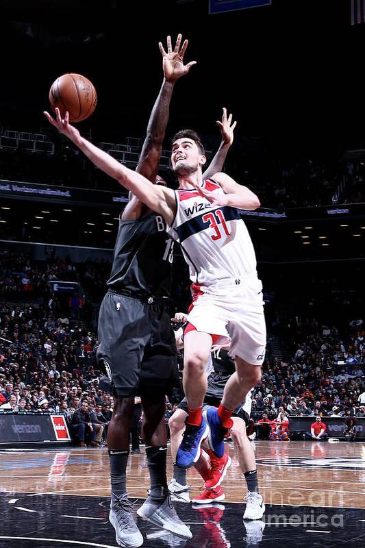 Nba Pro Basketball Art Print featuring the photograph Washington Wizards V Brooklyn Nets by Nathaniel S. Butler