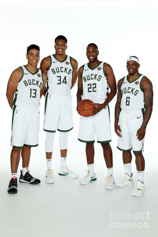 Media Day Art Print featuring the photograph 2018 Milwaukee Bucks Media Day by Gary Dineen