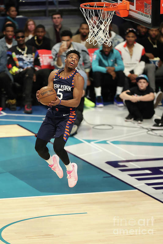 Nba Pro Basketball Art Print featuring the photograph 2019 At&t Slam Dunk Contest by Kent Smith