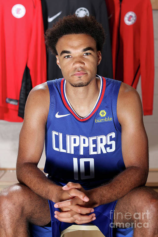 Jerome Robinson Art Print featuring the photograph 2018 Nba Rookie Photo Shoot by Nathaniel S. Butler