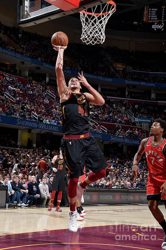 Nba Pro Basketball Art Print featuring the photograph Toronto Raptors V Cleveland Cavaliers by David Liam Kyle