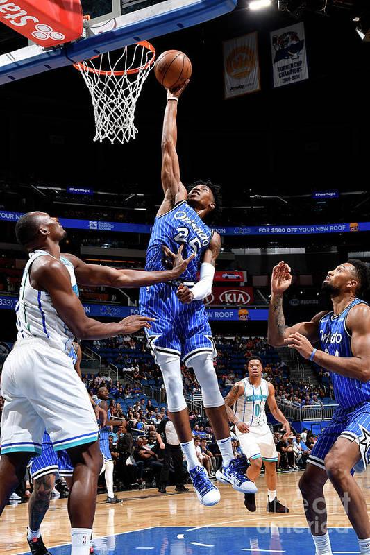 Nba Pro Basketball Art Print featuring the photograph Charlotte Hornets V Orlando Magic by Fernando Medina