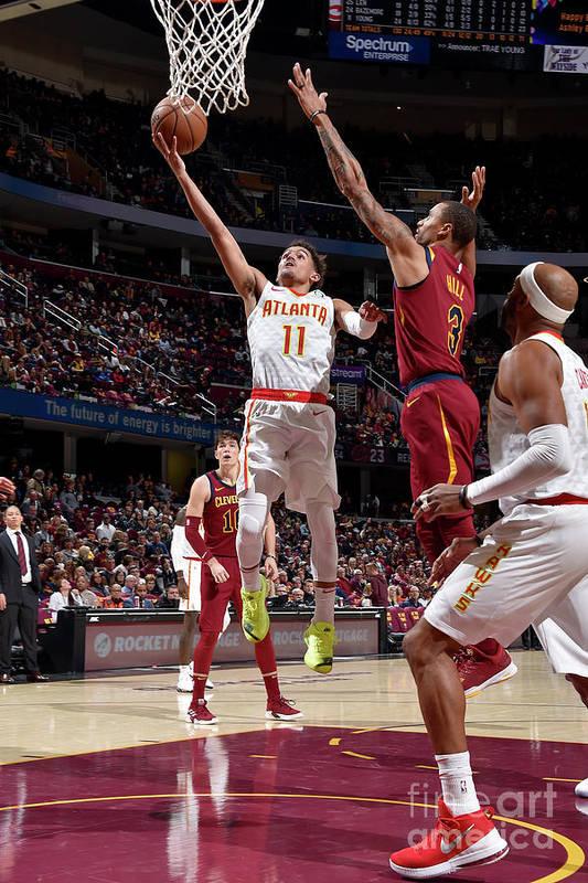 Nba Pro Basketball Art Print featuring the photograph Atlanta Hawks V Cleveland Cavaliers by David Liam Kyle
