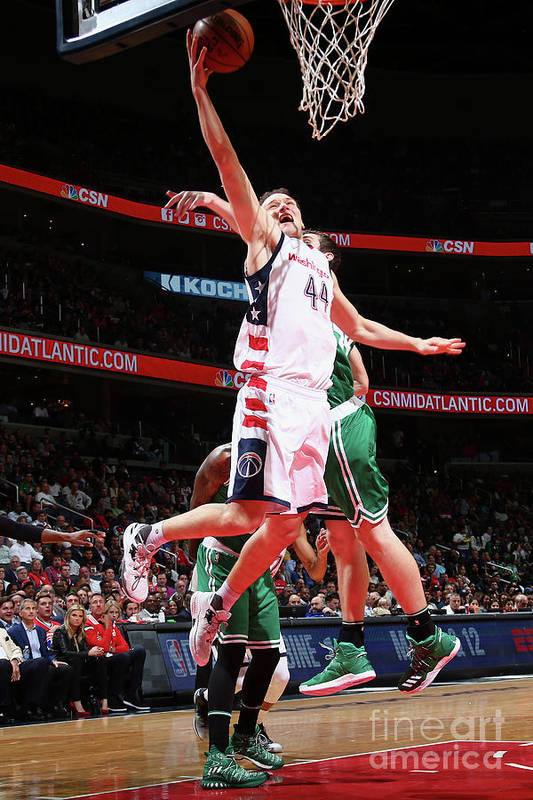 Playoffs Art Print featuring the photograph Boston Celtics V Washington Wizards - by Ned Dishman