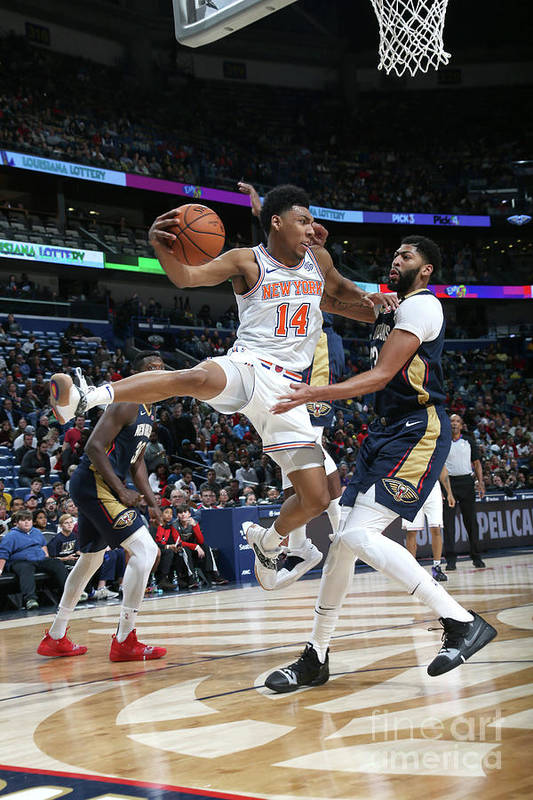 Smoothie King Center Art Print featuring the photograph New York Knicks V New Orleans Pelicans by Layne Murdoch Jr.