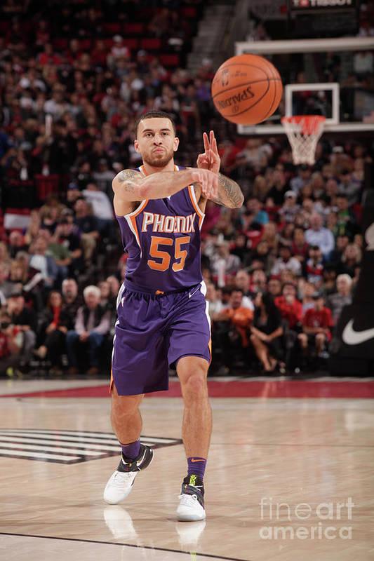 Nba Pro Basketball Art Print featuring the photograph Phoenix Suns V Portland Trail Blazers by Cameron Browne