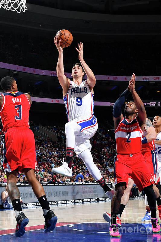 Nba Pro Basketball Art Print featuring the photograph Washington Wizards V Philadelphia 76ers by Jesse D. Garrabrant