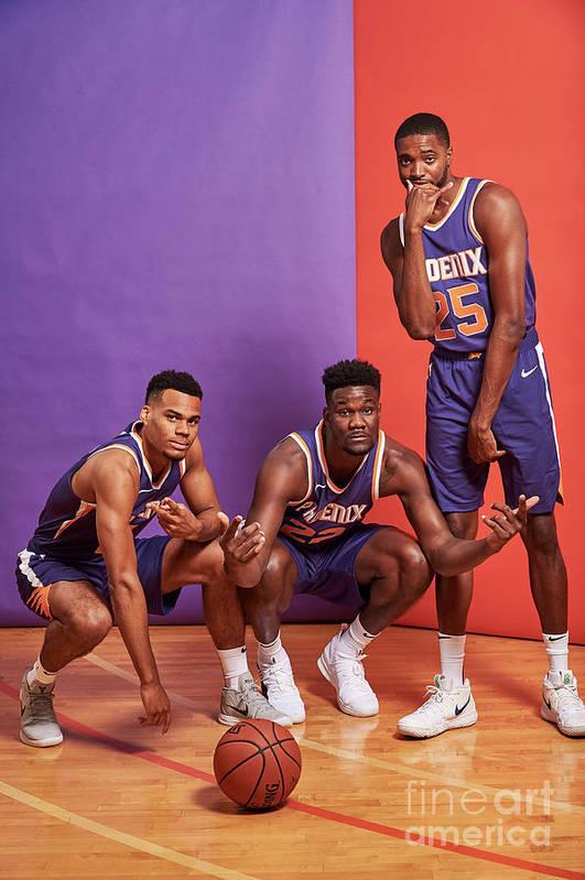 Nba Pro Basketball Art Print featuring the photograph 2018 Nba Rookie Photo Shoot by Jennifer Pottheiser