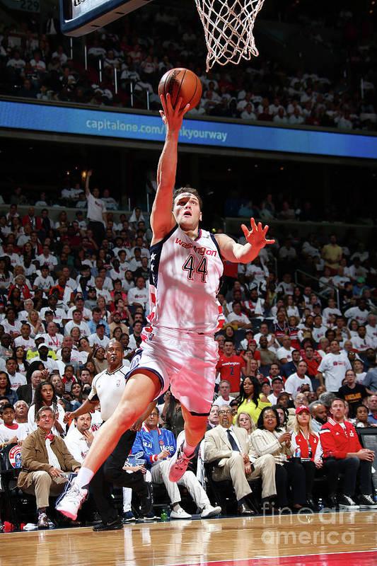 Playoffs Art Print featuring the photograph Atlanta Hawks V Washington Wizards - by Ned Dishman