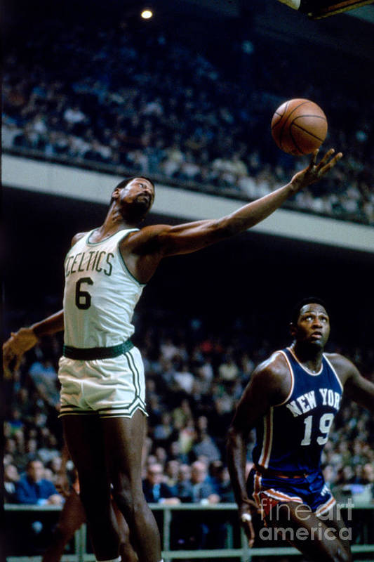Nba Pro Basketball Art Print featuring the photograph Boston Celtics - Bill Russell by Dick Raphael