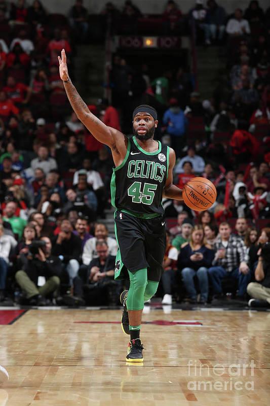 Nba Pro Basketball Art Print featuring the photograph Boston Celtics V Chicago Bulls by Gary Dineen