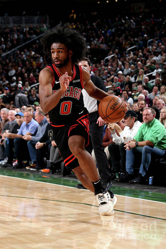 Coby White Art Print featuring the photograph Chicago Bulls V Milwaukee Bucks by Gary Dineen
