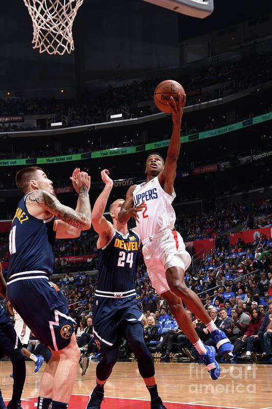 Nba Pro Basketball Art Print featuring the photograph Denver Nuggets V La Clippers by Adam Pantozzi