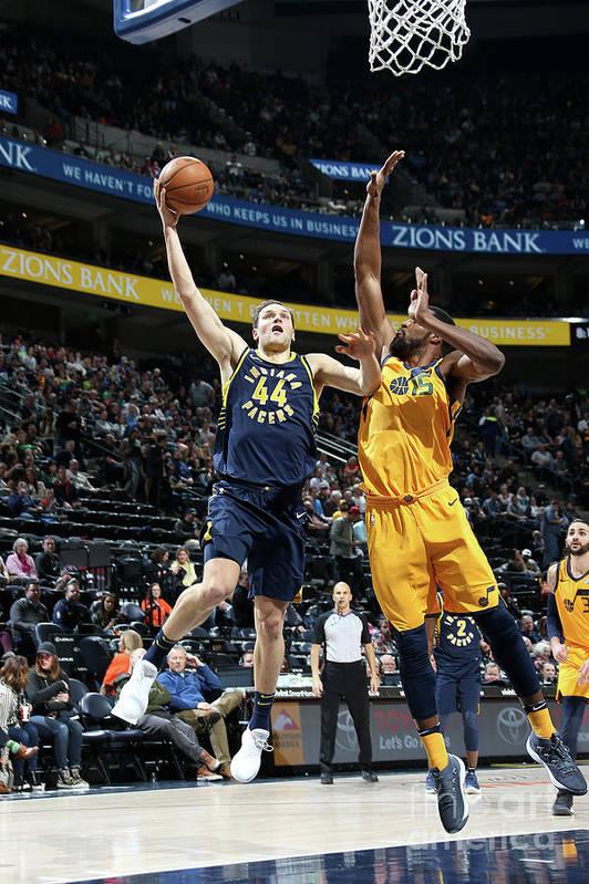 Nba Pro Basketball Art Print featuring the photograph Indiana Pacers V Utah Jazz by Melissa Majchrzak