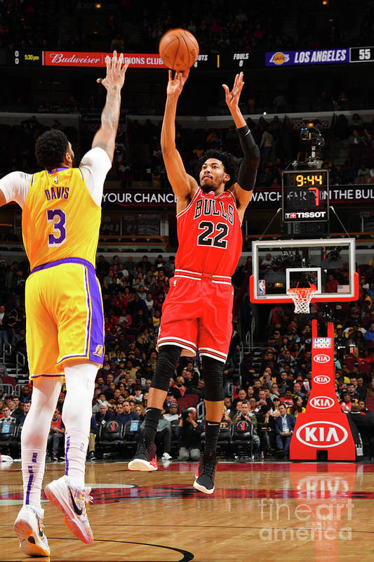 Chicago Bulls Art Print featuring the photograph Los Angeles Lakers V Chicago Bulls by Jesse D. Garrabrant