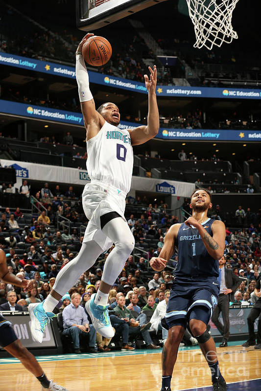 Nba Pro Basketball Art Print featuring the photograph Memphis Grizzlies V Charlotte Hornets by Kent Smith