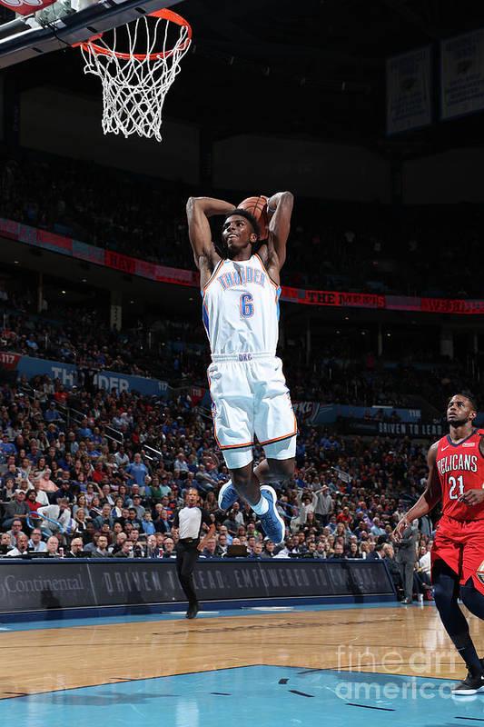 Nba Pro Basketball Art Print featuring the photograph New Orleans Pelicans V Oklahoma City by Joe Murphy