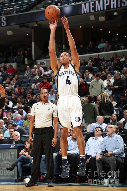 Nba Pro Basketball Art Print featuring the photograph Orlando Magic V Memphis Grizzlies by Joe Murphy