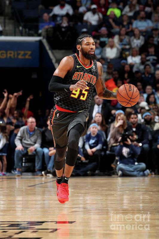 Nba Pro Basketball Art Print featuring the photograph Atlanta Hawks V Memphis Grizzlies by Joe Murphy