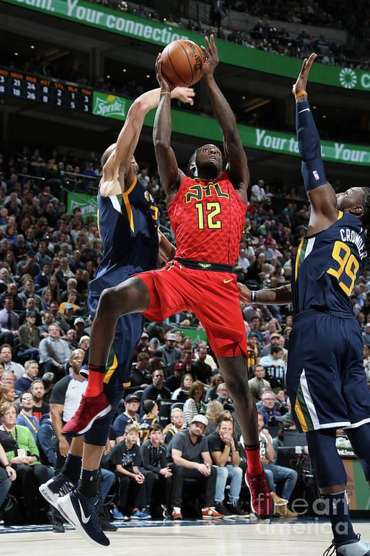 Nba Pro Basketball Art Print featuring the photograph Atlanta Hawks V Utah Jazz by Melissa Majchrzak