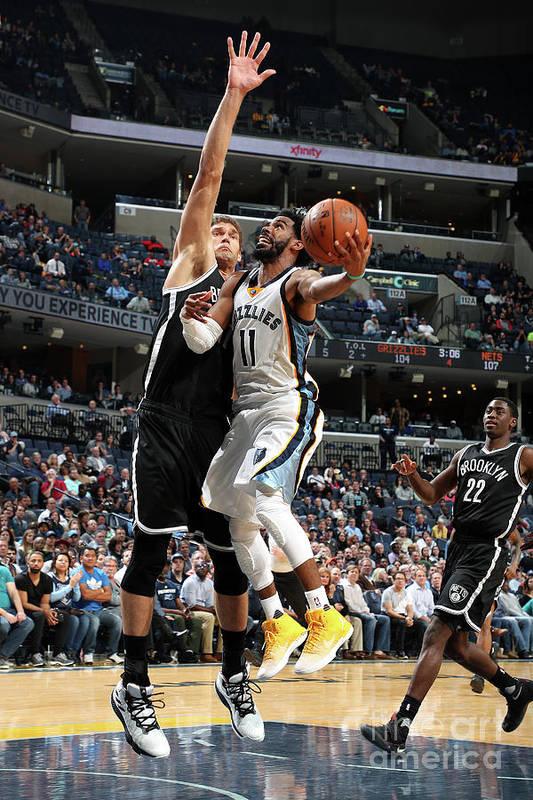 Nba Pro Basketball Art Print featuring the photograph Brooklyn Nets V Memphis Grizzlies by Joe Murphy