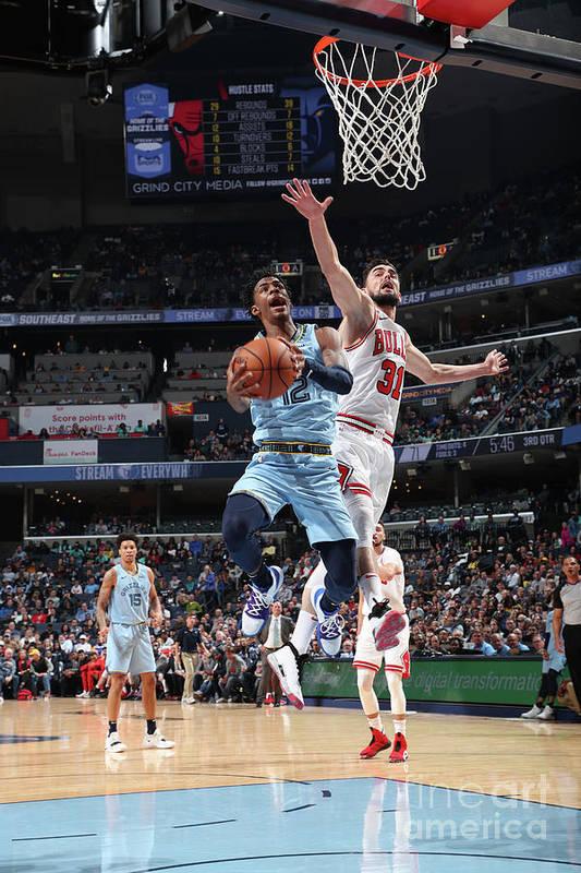 Nba Pro Basketball Art Print featuring the photograph Chicago Bulls V Memphis Grizzlies by Joe Murphy