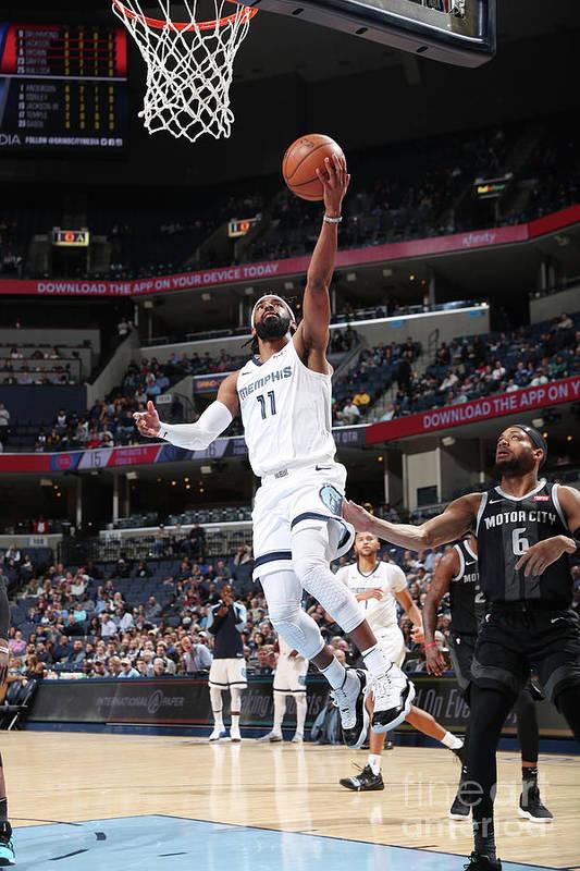 Nba Pro Basketball Art Print featuring the photograph Detroit Pistons V Memphis Grizzlies by Joe Murphy