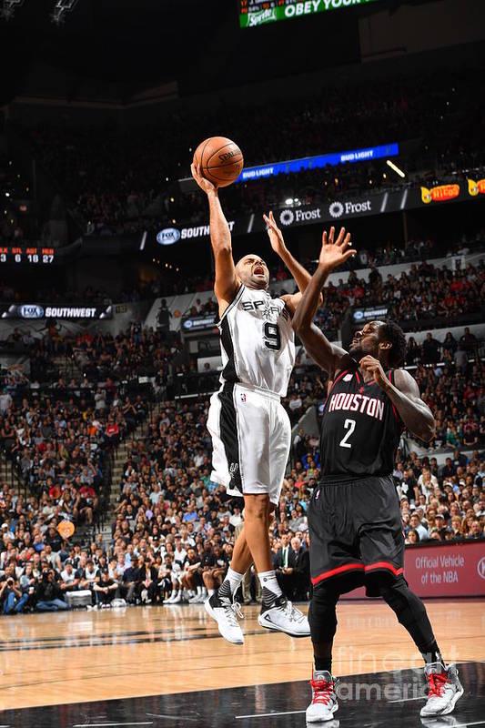 Playoffs Art Print featuring the photograph Houston Rockets V San Antonio Spurs - by Jesse D. Garrabrant