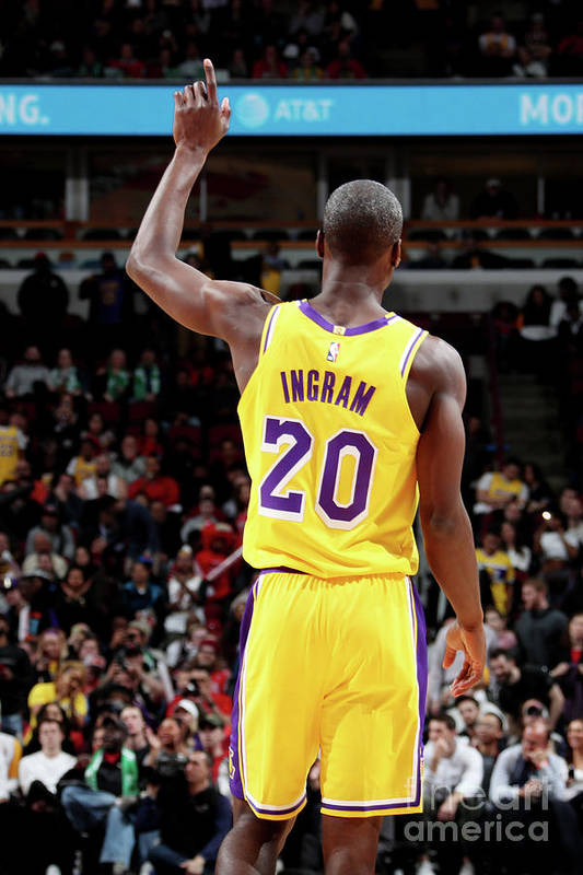 Andre Ingram Art Print featuring the photograph Los Angeles Lakers V Chicago Bulls by Nathaniel S. Butler