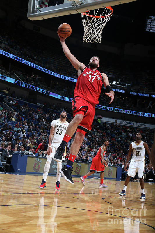 Smoothie King Center Art Print featuring the photograph Toronto Raptors V New Orleans Pelicans by Layne Murdoch Jr.
