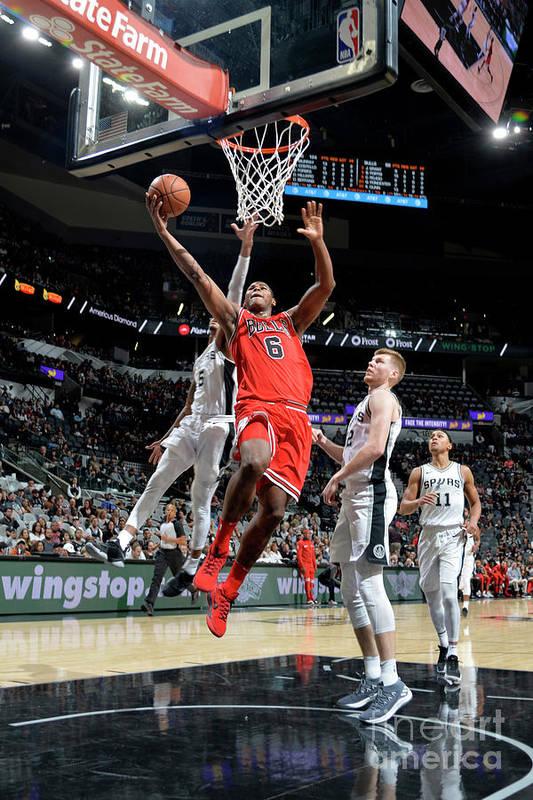 Nba Pro Basketball Art Print featuring the photograph Chicago Bulls V San Antonio Spurs by Mark Sobhani