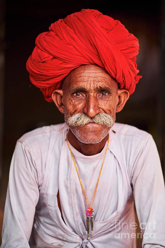 People Art Print featuring the photograph India, Rajasthan, Rabari Village by Tuul & Bruno Morandi