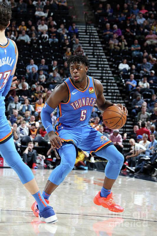 Nba Pro Basketball Art Print featuring the photograph Oklahoma City Thunder V Utah Jazz by Melissa Majchrzak