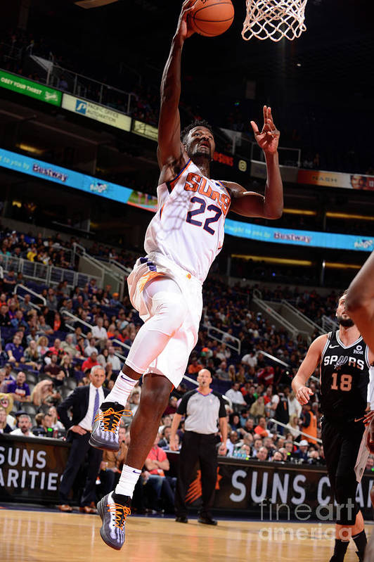 Nba Pro Basketball Art Print featuring the photograph San Antonio Spurs V Phoenix Suns by Barry Gossage