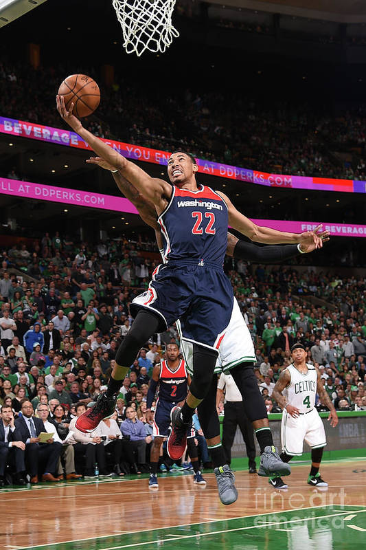 Playoffs Art Print featuring the photograph Washington Wizards V Boston Celtics - by Brian Babineau