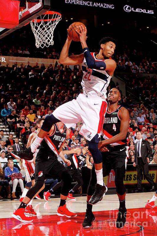 Nba Pro Basketball Art Print featuring the photograph Washington Wizards V Portland Trail by Cameron Browne