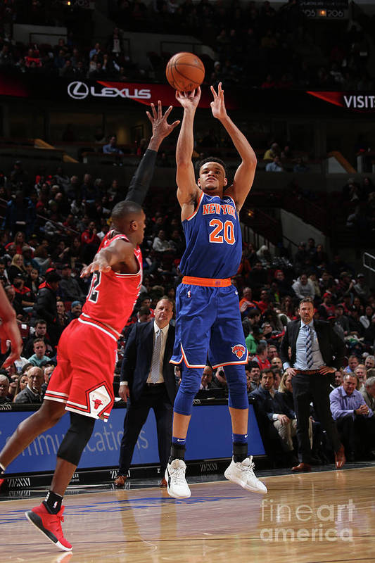 Nba Pro Basketball Art Print featuring the photograph New York Knicks V Chicago Bulls by Gary Dineen