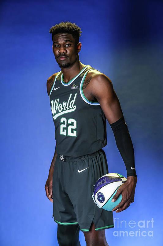 Nba Pro Basketball Art Print featuring the photograph 2019 Nba All Star Portraits by Michael J. Lebrecht Ii