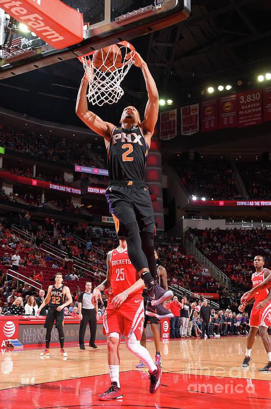 Nba Pro Basketball Art Print featuring the photograph Phoenix Suns V Houston Rockets by Bill Baptist